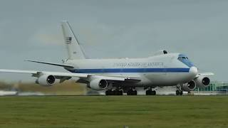✈ *VICE PRESIDENT* United States Of America Boeing E4B Roars Out Of London Stansted Airport