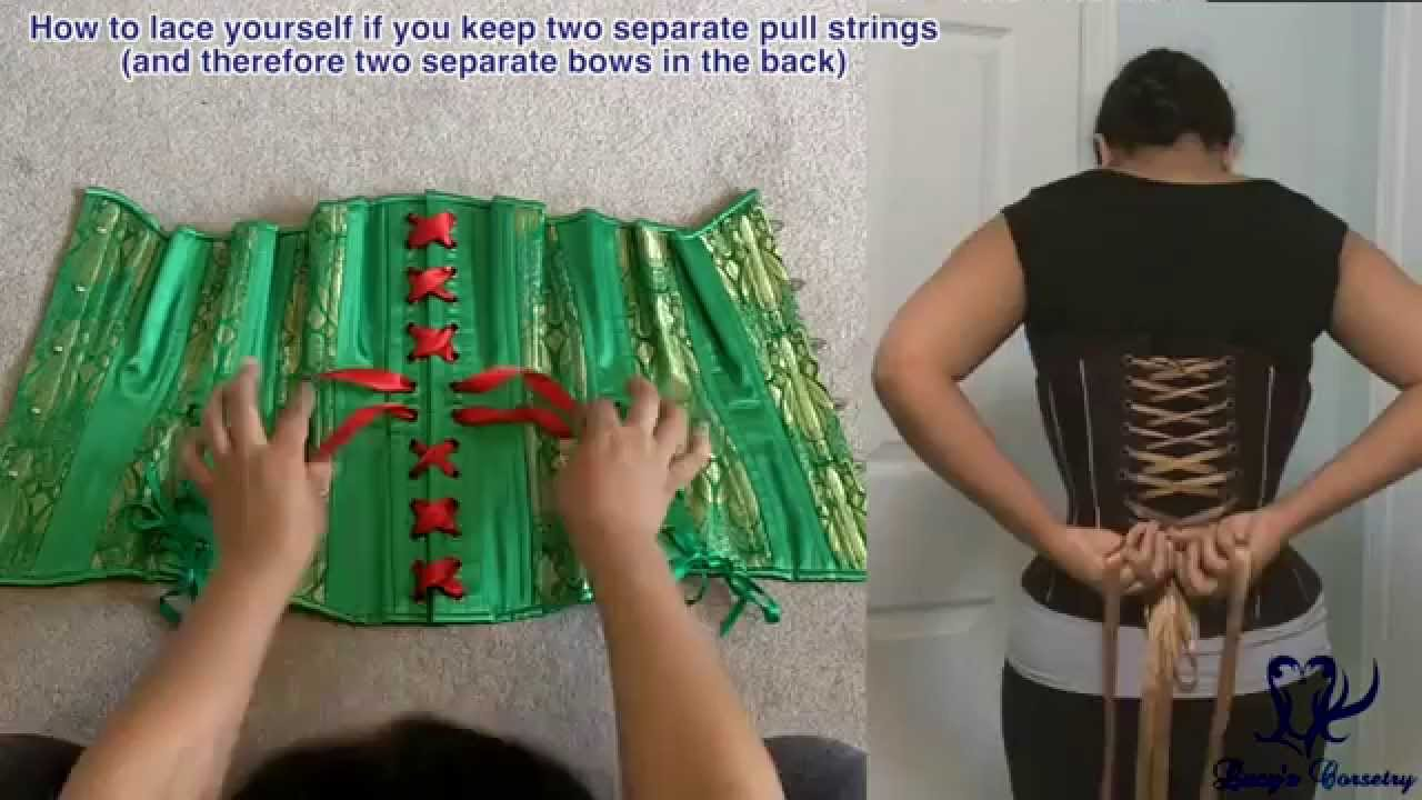 36fb4687e7 Lacing your Corset with 2 ribbons (2 pull strings)
