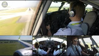 CLASSIC Boeing 737-300 ULTIMATE COCKPIT MOVIE Riga-Munich, Air Baltic [AirClips full flight series]