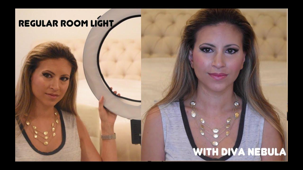New ring light for beauty videos!! Review of Diva Ring Light Nebula - YouTube  sc 1 st  YouTube & New ring light for beauty videos!! Review of Diva Ring Light ... azcodes.com