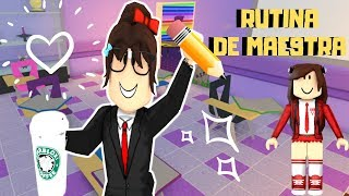 MEEPCITY MY ROUTINE OF TEACHER IN THE MORNING IN MY SCHOOL - ROBLOX
