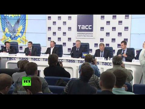 Пресс-конференция ЛДПР по итогам выборов в Госдуму