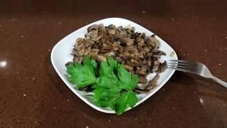 Как вкусно а главное правильно жарить грибы.