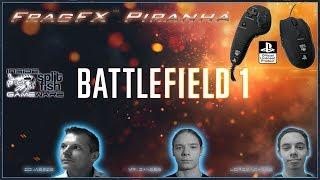 BATTLEFIELD 1 PS4 - FRAGFX PIRANHA PS4 GAMING MOUSE - OFFICIALLY SONY LICENSED