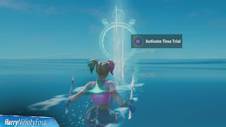 Complete the Swimming Time Trial at Dirty Docks Location - Fortnite (Week 4 Aquaman Challenge)