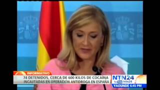 Al menos 74 arrestos y más de 600 kilos de cocaína incautados en operación antidrogas en España