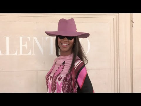 Naomi Campbell at Valentino Fashion Show in Paris