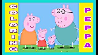 Coloring Peppa Pig & Family | Kids songs | Coloring Pages for Kids