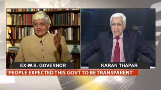 UpFront With Karan Thapar, April 29   Interview With Gopalkrishna Gandhi