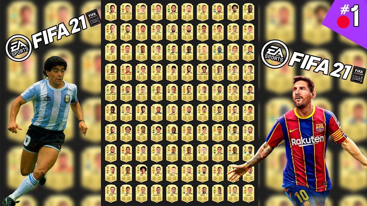 LAS 100 MEDIAS más TOP DE FIFA 21 *EA SPORTS todo bien por Casa*