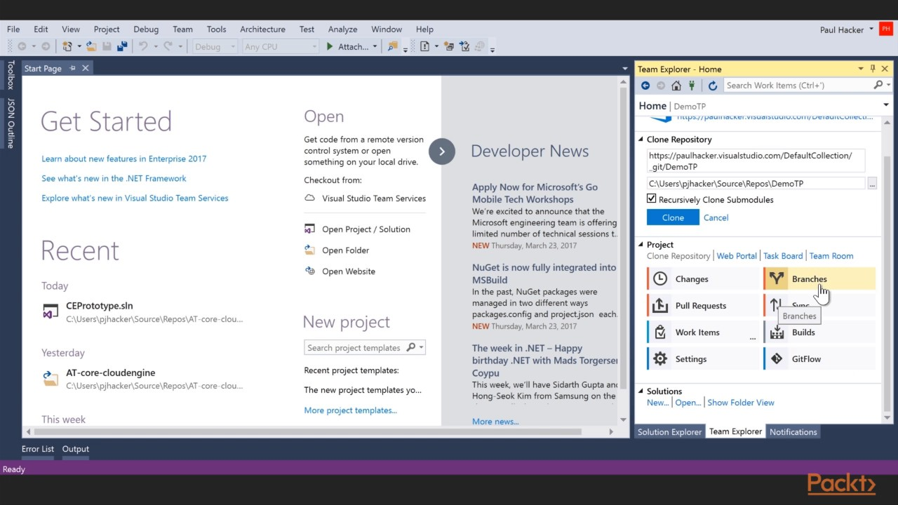 Introducing Microsoft Team Foundation Server 2017 : Introduction to Team  Projects | packtpub com