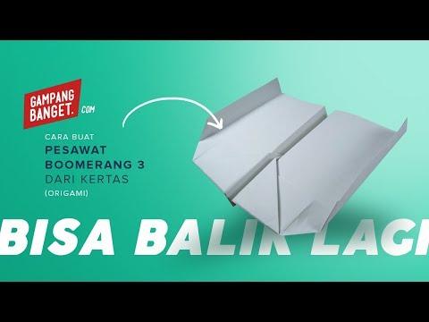 Membuat Origami Pesawat Boomerang 3