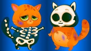 КОТЕНОК БУБУ Скелет - 1 серия #105 Кид и котик Bubbu против Крыса в больнице. Мультик про кота