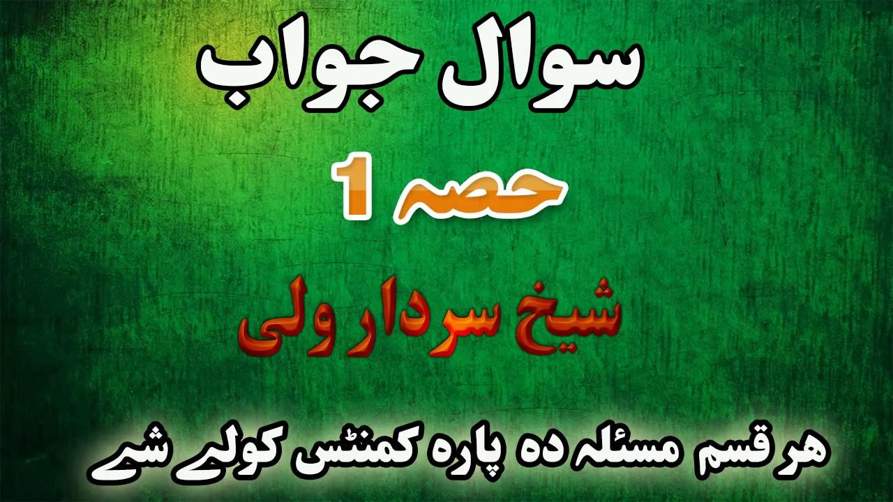 Download Pashto bayan islamic bayan sawal jawab سوال جواب part 1 by shaikh sardar wali