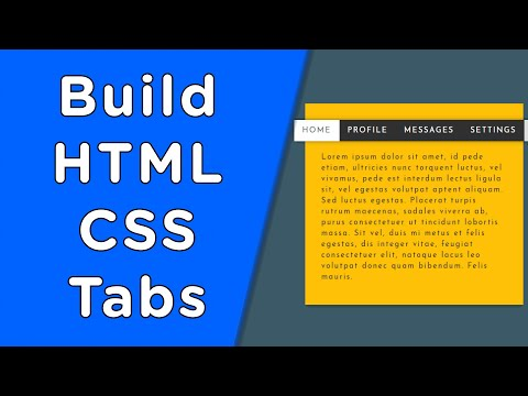 Build Tabs Using HTML/CSS In Only 12 Minutes