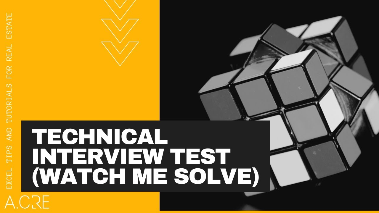 Watch Me Model a Real Estate Private Equity Technical Interview Exercise in  Excel