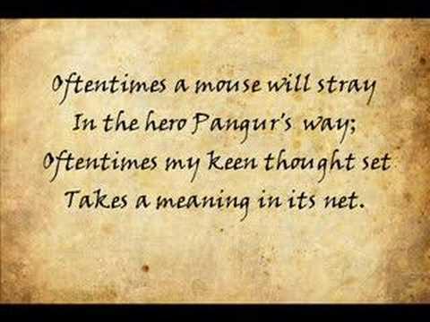 Pangur Bán Read By Jason Goldtrap