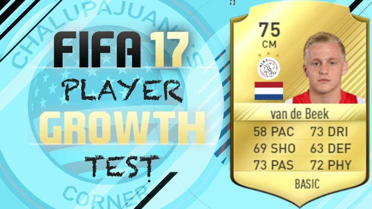 Fifa 17 Donny Van De Beek Growth Test Youtube