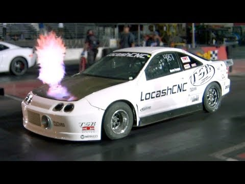 Download Youtube: Flame Spitting Turbo Integra Outruns V8's!