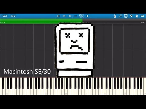 MACINTOSH DEATH CHIMES IN SYNTHESIA