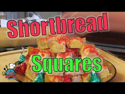 How To Make Shortbread Squares! Christmas Cookies 🍪