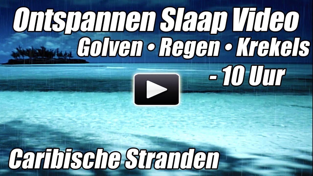 Oceaan Golven Regen Krekels Slaap Video Ontspannen Natuurgeluiden Water Slapen Ambient Geluiden uur