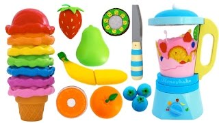 best learning colors video ice cream toy blender learn fruits with wooden velcro toys