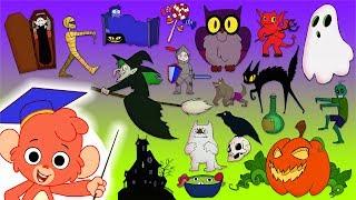 Halloween ABC | Scary ABC | learn the Alphabet with Club Baboo | Halloween cartoon for kids