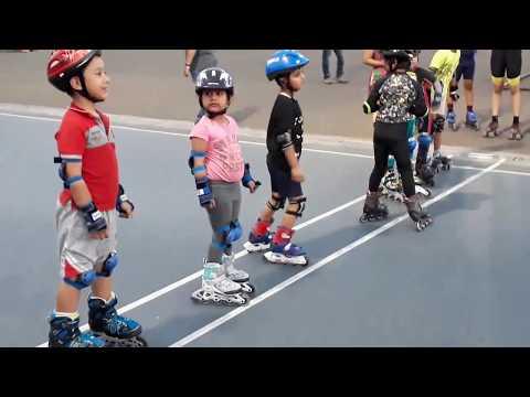 Kids Learn the Roller Skating Sport