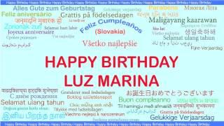 LuzMarina   Languages Idiomas - Happy Birthday