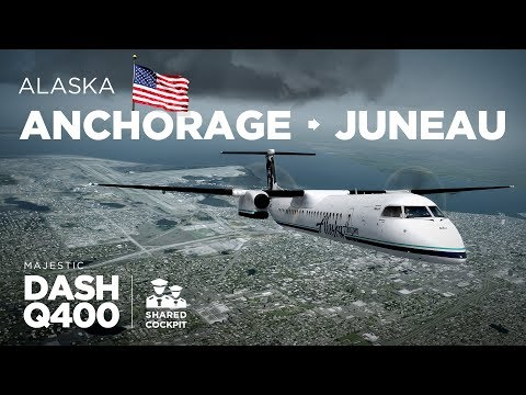 Prepar3D - Dash-8 Q400 / Anchorage → Juneau ** Shared Cockpit **