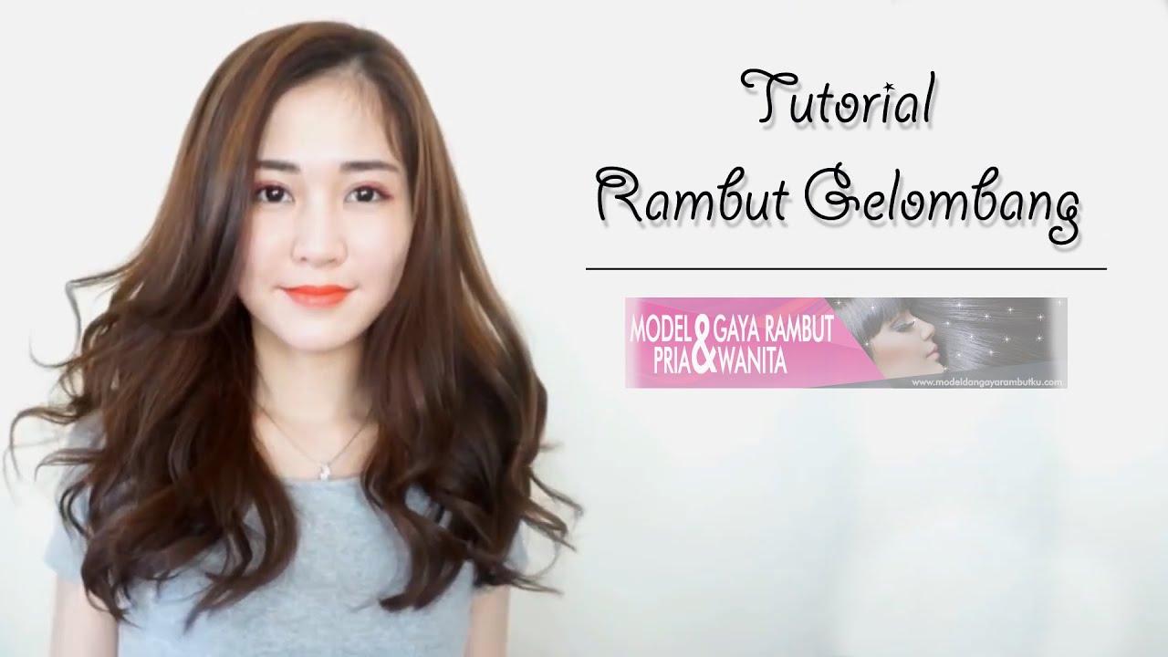tutorial menata rambut gelombang - youtube