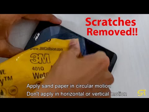 How to remove scratches form smartphone screen using polish paper | 3M polish paper