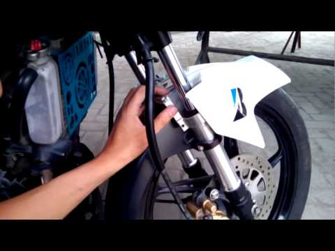 Yamaha Sniper Front Fork Accessory Installation
