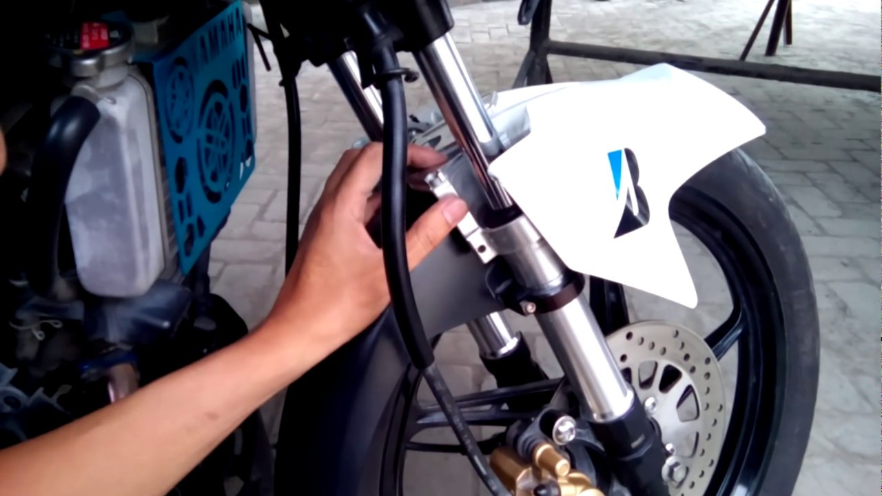 Yamaha Sniper Front Fork Accessory Installation Youtube