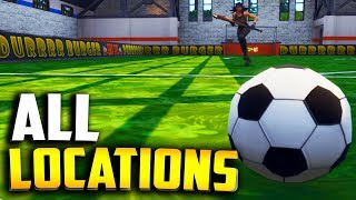 "All PITCH LOCATIONS! ""Score a goal on different pitches"" (All Fortnite Soccer Field Locations)"