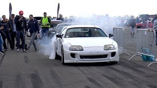 1300HP TOYOTA SUPRA TURBO - BRUTAL BURNOUTS & ACCELERATIONS !