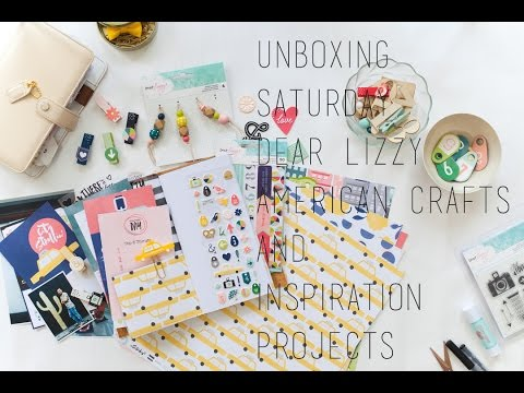 SATURDAY DEAR LIZZY AMERICAN CRAFTS UNBOXING PLUS TRAVEL NOTEBOOK AND PLANNER IDEAS