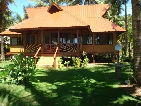 Housing in the philippines nipa huts youtube for Modern native house design