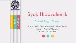 HYPOVOLEMIC SHOCK / SYOK HIPOVOLEMIK.