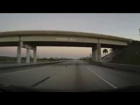 Driving on Florida's Turnpike from Kissimmee to Yeehaw Junction