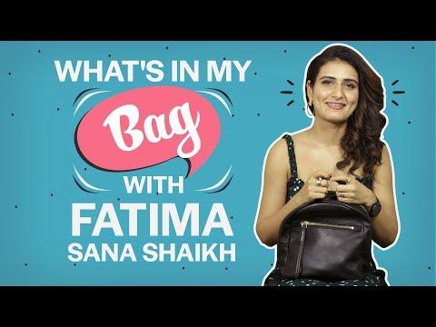 What's in my bag with Fatima Sana Shaikh| Fashion| Bollywood| Pinkvilla