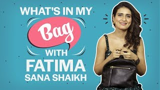 What's in my bag with Fatima Sana Shaikh| Fashion| Bollywood| Pinkvilla