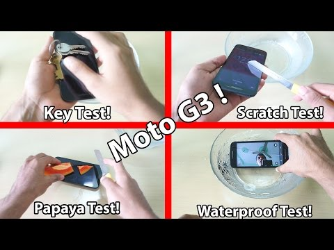 Moto G 3rd Gen Extreme Waterproof test, Scratch test with knife !