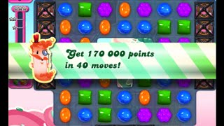 Candy Crush Saga Level 1617 walkthrough (no boosters)
