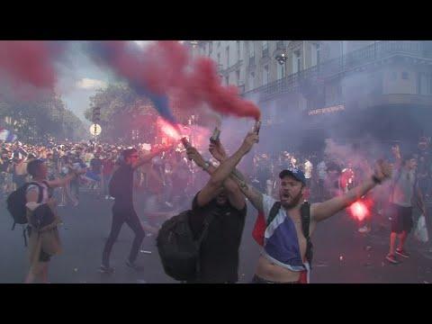 فرحة عارمة بفوز المنتخب الفرنسي بكأس العالم 2018