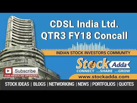 CDSL India Ltd Investors Conference Call Q3FY18