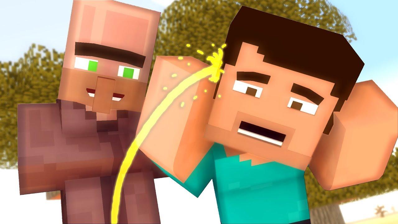 Villager Life Peeing in Minecraft - Minecraft Animation