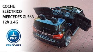 Coche eléctrico para niños de 2 PLAZAS Mercedes GLS63