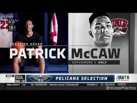 2016 NBA Draft   #38 Pick׃ Patrick McCaw   Milwaukee Bucks